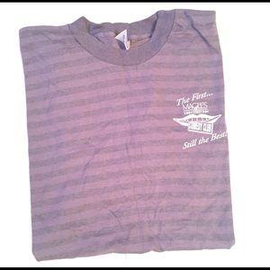 Vintage purple striped t shirt large fit